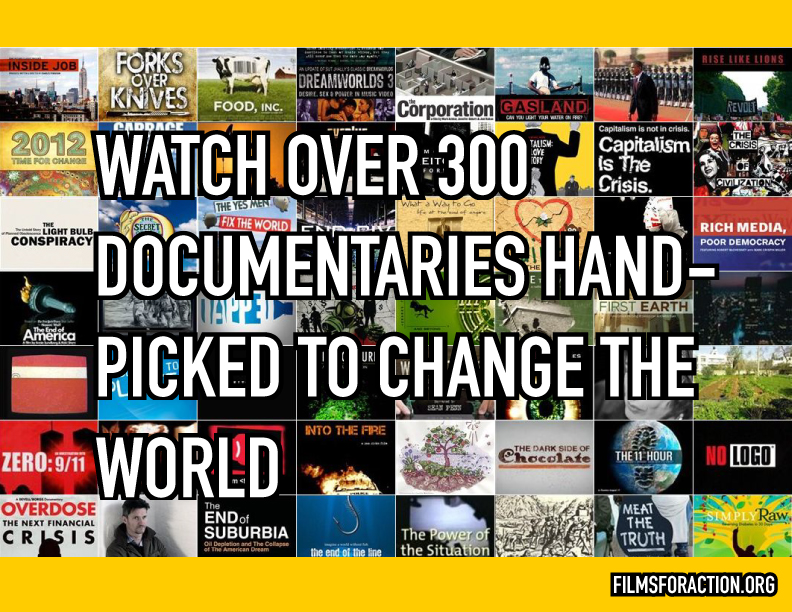 Wall of Films! | Over 400 Social Change Documentaries on 1 Page, Free to Watch Online