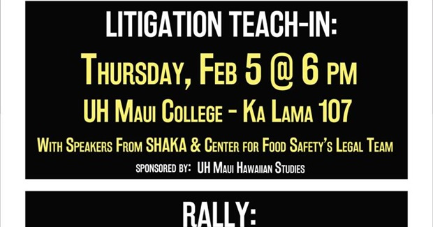 GMO Moratorium Litigation Teach-In | Facebook