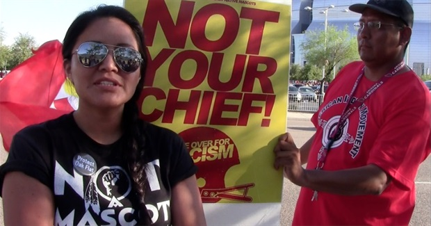 Not Your Chief protest at Kansas City Chiefs game