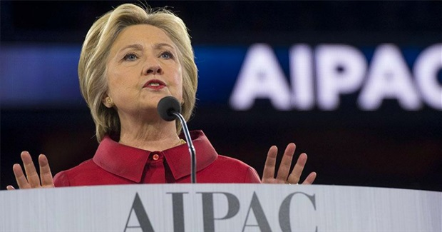 Critics Aghast at 'Disgusting Speech' Clinton Just Gave to AIPAC