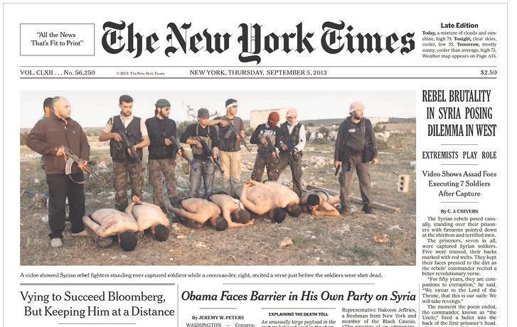 Will this Photo prevent the Attack on Syria? Who are we Supporting in Syria?