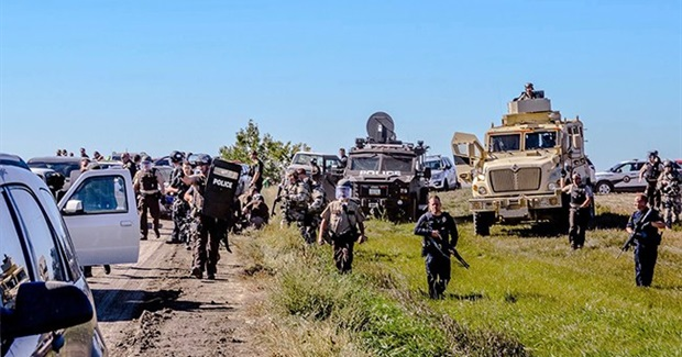 As Militarized Police Move In, Indigenous Peoples from Around the World Stand with Standing Rock