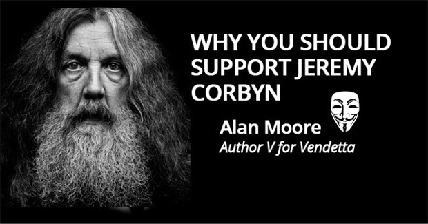 Why V for Vendetta Author Alan Moore Says You Should Support Jeremy Corbyn