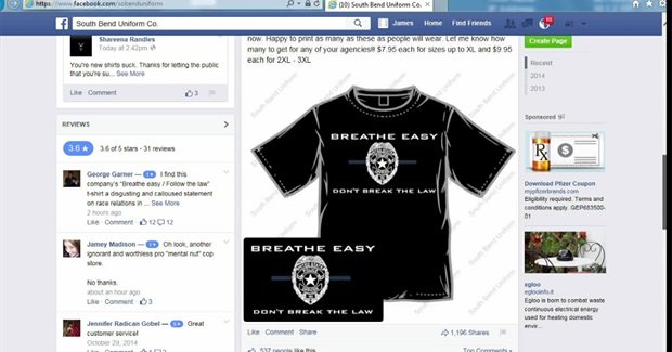 Local Businessman, Police Officer Selling 'Breathe Easy' t-shirts