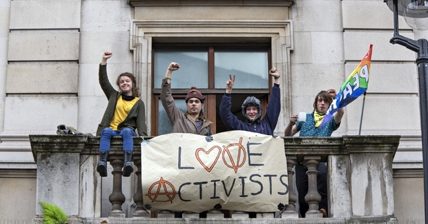 Activists Turn Former RBS Office in London into Housing Protest Squat