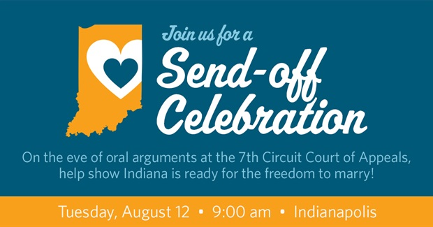 Hoosiers Unite for Marriage Send-off event!