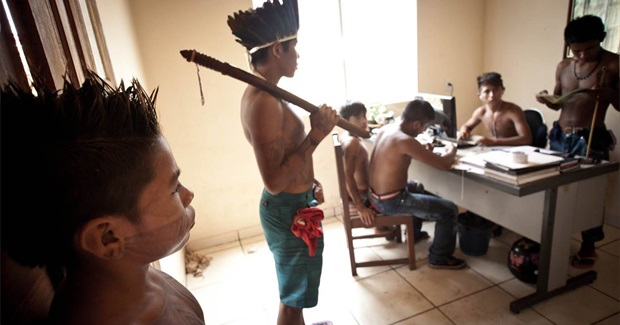 Munduruku Indians Occupy Brazil's National Indian Foundation building