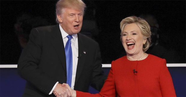 Donald Trump & Hillary Clinton: Two Figures in a Derailed World